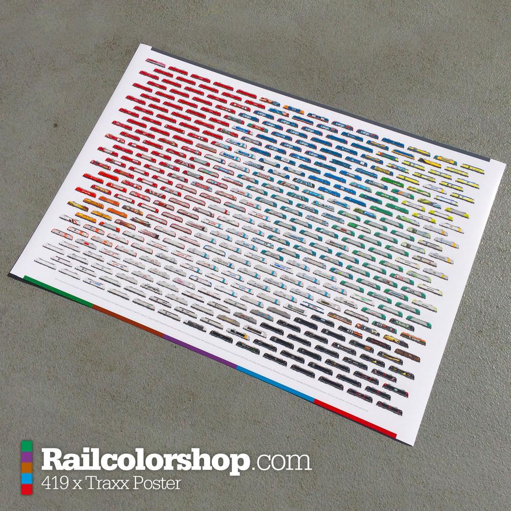 traxx poster 100x70 cm railcolorshop. Black Bedroom Furniture Sets. Home Design Ideas